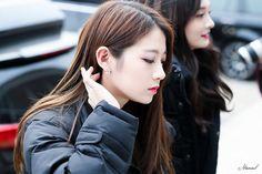 PRISTIN ♡ ReNa 레나 (Kang YeBin 강예빈) commute 170327 'WeeWoo' era #프리스틴 #출근길 #위우