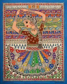 Rang Nritya - dance of colors - Creative Mithila Mithila / Madhubani Painting Artist- Nupur Nishith