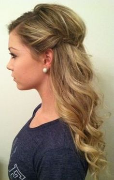 long curly hairstyles for prom