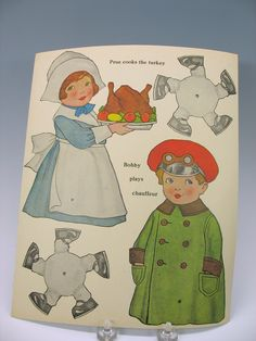 Mint Walking Paper Doll book kit 1926 old Store stock from quirkyantiques on Ruby Lane