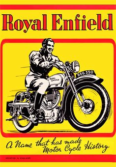 """Motos anglaises pubs rétro Norton - Dominator 99 - 600 cc """"All eyes are on the smooth-look"""" BSA - Star 250 cc - Enfield Motorcycle, Motorcycle Logo, Motorcycle Posters, Royal Enfield Logo, Royal Enfield Bullet, Vintage Metal Signs, Vintage Ads, Vintage Bikes, Vintage Posters"""