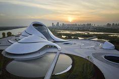 architettura e design harbin opera house Futuristic Architecture, Amazing Architecture, Architecture Design, Harbin, Exterior Design, Interior And Exterior, Trans Siberian Railway, Wood Facade, Chinese Landscape