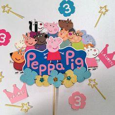30th Birthday Cake Topper, 3rd Birthday, Birthday Parties, Peppa Pig Teddy, Cake Topper Tutorial, Birthday Party Decorations, Ideas, George Pig Party, Birthday