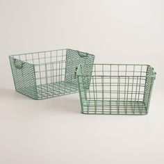 Blue Metal Jamison Storage Baskets | World Market