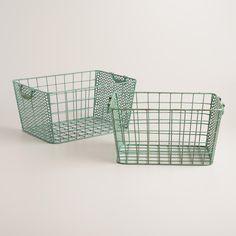 Blue Metal Jamison Storage Baskets | World Market