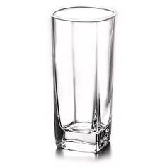 jogo 6 copos square alto de vidro 300ml lyor - l6266