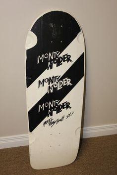 NOS Vintage 1985 Schmitt Stix Monty Nolder Double Striped Skateboard Deck