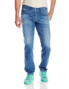AG Adriano Goldschmied Men's Graduate Tailored Leg Selvage Denim, Varnish, 29x34