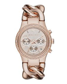 Michael Kors Rose Golden Runway Touch Of Glitz Watch I need this