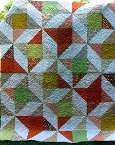 Modern Friendship Star quilt - neat pattern