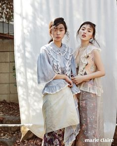 In Bloom: Kim Seung-hee & Kim Yong-ji for Marie Claire Korea - Miu Miu Spring 2016