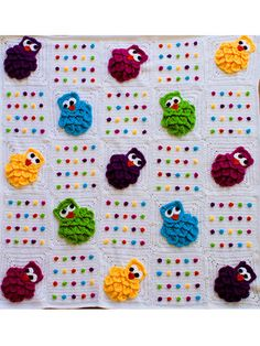 Rainbow Owls Baby Blanket--i must make this for Mary!!