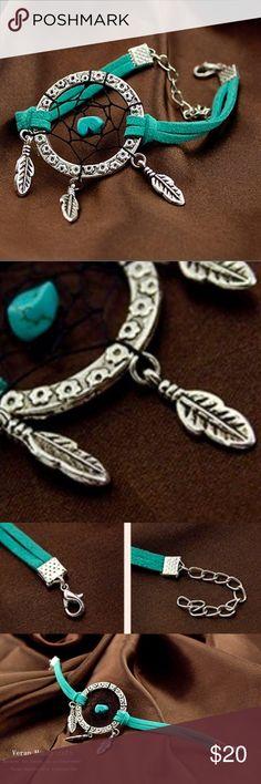 Indian Dream Catcher Bracelet Dream Catcher Bracelet Indian Dreamcatcher Bracelet.                                                               Material: alloy Treatment: electroplating Color: green Conversion:1 inch=2.54cm or 1cm=0.393inch Jewelry Bracelets