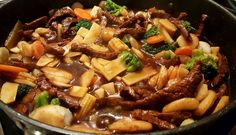 Asian Recipes, Healthy Recipes, Ethnic Recipes, Beef Chops, Chop Suey, Best Meat, Coleslaw, Wok, Japanese Food