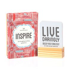 Don't miss out on Inspire – a Moroccan inspired gift box containing 24 thought-provoking quotations. Lovingly handcrafted to appeal to the gypsy living within us all. Refreshing and insightful, keep Inspire on your desk or bedside table and discover a new quote each day.