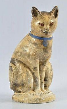 Chalkware cat.