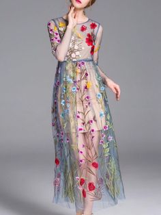 1889b6a4c41 Shop lady eyes colormix cami dress and flower embroidery gauze dress  twinset here