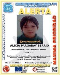 Una niña de 9 años, Alicia Pargaray, desaparece en Miranda de Ebro            Desde ayer domingo, 6...