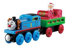The next Thomas the train wooden train set is a collectible train toy product that celebrates the holiday of giving. This set features a Christmas wooden train toy set of Thomas.