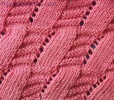 Diamond knitting stitches