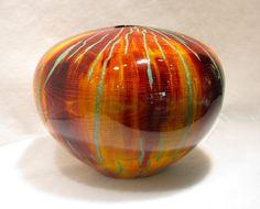 10 Talented Tips AND Tricks: Old Vases Mason Jars concrete vases big. Wooden Vase, Metal Vase, Wooden Bowls, Vase Centerpieces, Vases Decor, Old Vases, Antique Vases, Art Nouveau, Round Vase