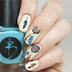 Dream catcher stamping nails, how do you think of this type? More details shared in bornprettystore.com