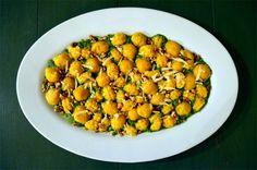 Butternut Squash Ricotta Gnocchi with Kale Walnut Pesto (using walnut mold)