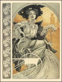 Classic lines - Mucha was a master of composition and flow within images