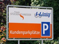 Parkplatzschild Zweirad Hanning, Nottuln