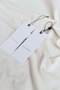 #madebysmackbang - Bec + Bridge Collateral Design, Branding Design, Label Design, Print Design, Graphic Design, Swing Tags, Clothing Tags, Print Packaging, Packaging Design Inspiration