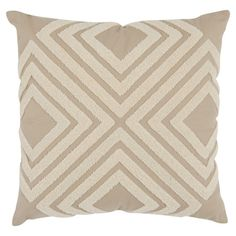 Feather-filled cotton pillow with a geometric motif.  Product: Set of 2 pillowsConstruction Material: Cotton cov...