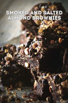 Smoked and Salted Almond Brownies Recipe | PasstheSushi.com