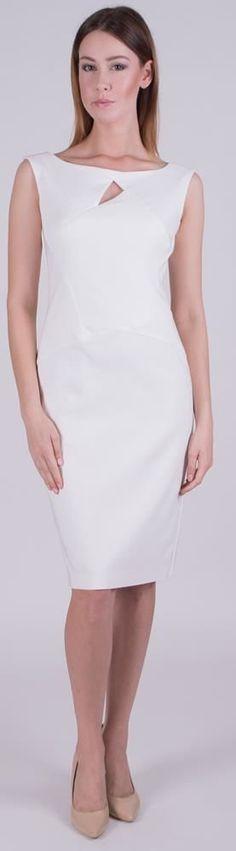 Dopasowana sukienka w kolorze białym #sukienka#white#dress