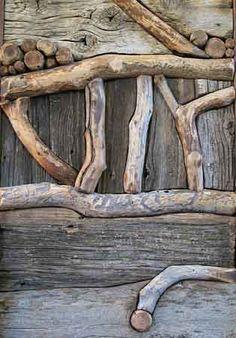 Branch & Barnwood Door Detail