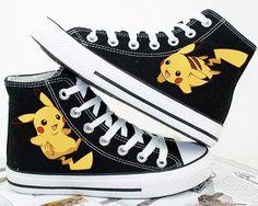 Pokemon/pikachu / converse/Pokemon zapatos mano pintado zapatos