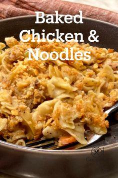 Garlic Chicken, Baked Chicken, Chicken Recipes, Easy Casserole Recipes, Easy Dinner Recipes, Retro Recipes, Ethnic Recipes, Butter Crackers, Potlucks