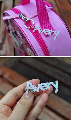 DIY Custom Plastic Name Tag | Click Pic for 18 DIY Back to School Crafts for Teens to Make | Easy Back to School Crafts for Kids to Make