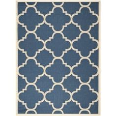 Shop for Safavieh Courtyard Quatrefoil Navy/ Beige Indoor/ Outdoor Rug (9' x 12'). Get free shipping at Overstock.com - Your Online Home Decor Outlet Store! Get 5% in rewards with Club O! - 15416527