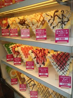 Foodie Travel Tips - Japanese Crepes - Harajuku Crepes are the specialty of Takeshita Street. They are rolled up deliciousness.