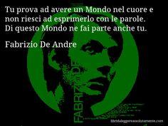 Cartolina con aforisma di Fabrizio De Andre (70)