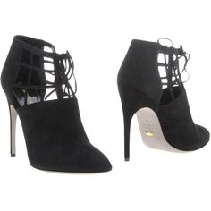 Sergio Rossi Ankle Boots ($521) ❤ liked on Polyvore featuring shoes, boots, ankle booties, black, black stilettos, black stiletto booties, short leather boots, black bootie and leather boots