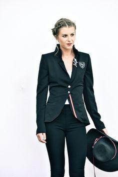 Jacke Jersey schwarz - Mirabell Plummer Blazer, Style, Fashion, Jackets, Black, Woman, Moda, Stylus, Blazers