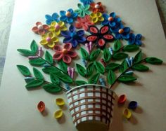 Paper quilling paintings