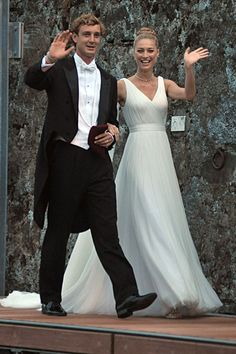 Pierre Casiraghi and Beatrice Borromeo ready for their religious wedding ceremony.