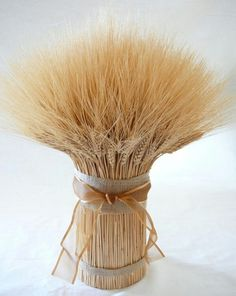 Gorgeous wheat centerpiece