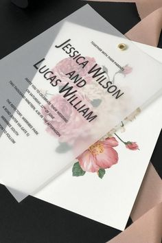 dusty rose wedding Dusty Rose Floral Wedding Invitations with Vellum Paper Quince Invitations, Cheap Wedding Invitations, Diy Invitations, Wedding Invitation Templates, Wedding Stationary, Invitation Design, Staubige Rose, Dusty Rose Wedding, Vellum Paper