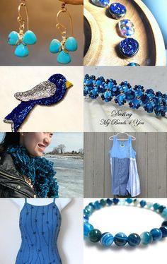Brilliant Blues  by Theodora on Etsy--Pinned with TreasuryPin.com