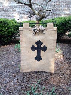Cross garden flag