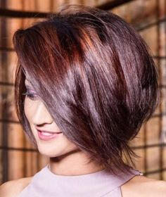 Love the color-bob hairstyles, bob haircuts, A line bob, inverted bob, bob hairstyles with fringe, short asymmetrical bob hairstyles, layered bob, angled bob