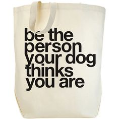 Dogeared be the person tote bag, canvas/black 1 ea ($32) found on Polyvore